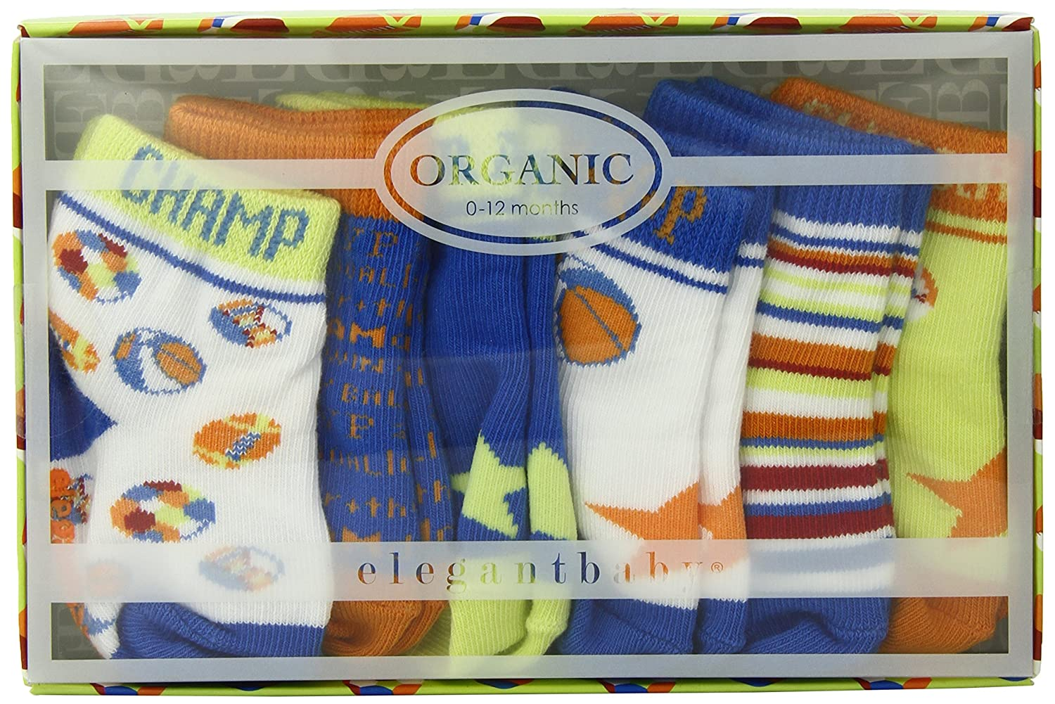 Amazon.com: Elegant Baby Play Ball Boys Socks, All Star, 6 Pair (Discontinued by Manufacturer): Baby