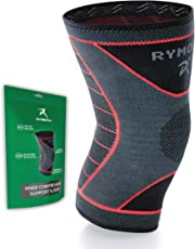 Rymora Knee Support Brace Compression Sleeve - for Joint Pain, Arthritis, Ligament Injury, Meniscus Tear, ACL, MCL, Tendonitis, Running, Squats, Sports (Single Wrap)