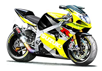 Amazon.com: GSXR 1000 Yellow Suzuki Motorcycle Wall Decal (4ft Long
