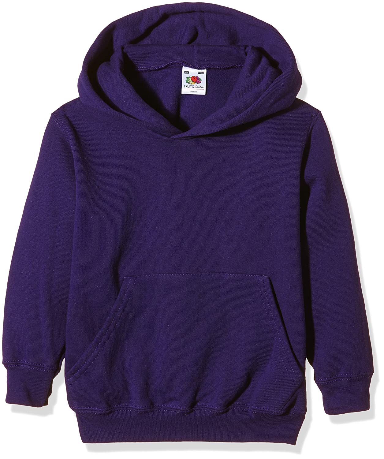 Fruit of the Loom Childrens Hooded Sweatshirt Hoodie (AGE 7/8, PURPLE) 62-043-0