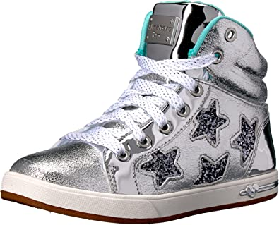 f53bf94776cd4 Amazon.com | Skechers Kids Girls' Shoutouts-84320L Sneaker, Silver ...