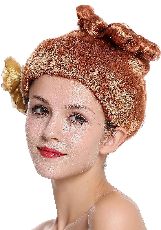 WIG ME UP ® - CXH-005-P130 Peluca Mujer Carnaval Halloween Rosa roja Victoriana Chica Bailarina del salón: Amazon.es: Juguetes y juegos