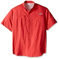 Columbia Sportswear Men's Tamiami II Short Sleeve Shirt, Sunset Red, Large/Tall