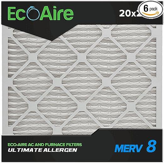 AIR HANDLER 6B993 Pleated Air Filter,20x23x1,MERV 7 PK 12