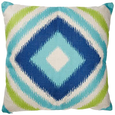 "Christopher Knight Home 305798 Willy Outdoor Water Resistant 18"" Square Pillow, Blue and Teal Ikat : Garden & Outdoor"