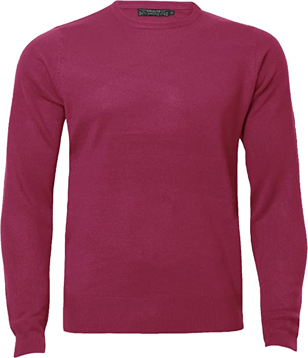 Mens Jumper Soft Cashmillon Fashion Knitwear Sweater Pullover Kensingtion