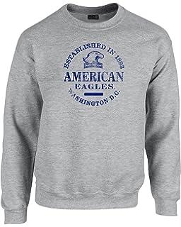 1a844d83 NCAA American University Eagles 50/50 Blended 8 oz. Crewneck Sweatshirt XL