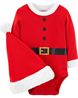 Amazon.com  Carters Unisex Santa s Helper Hat 12-24 Months  Clothing c94b3eb32a38