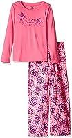 Calvin Klein Girls' Long Sleeve 2 Piece Crew Neck Pajama Set