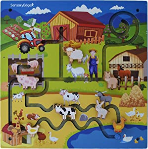 Wall Toys for Toddlers – On The Farm Wall Activity Center – Sensory Wall for Fine Motor Skills and Hand-Eye Coordination - Mounted Wall Decor for Kids Rooms or Doctors Office - Gift for Boys & Girls