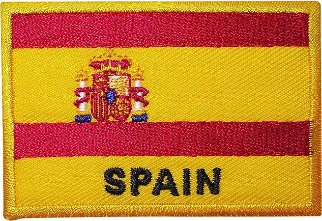 Parche bordado con la bandera de España, se puede planchar o coser a la ropa y se puede poner en camisetas, mochilas o sombreros: Amazon.es: Hogar