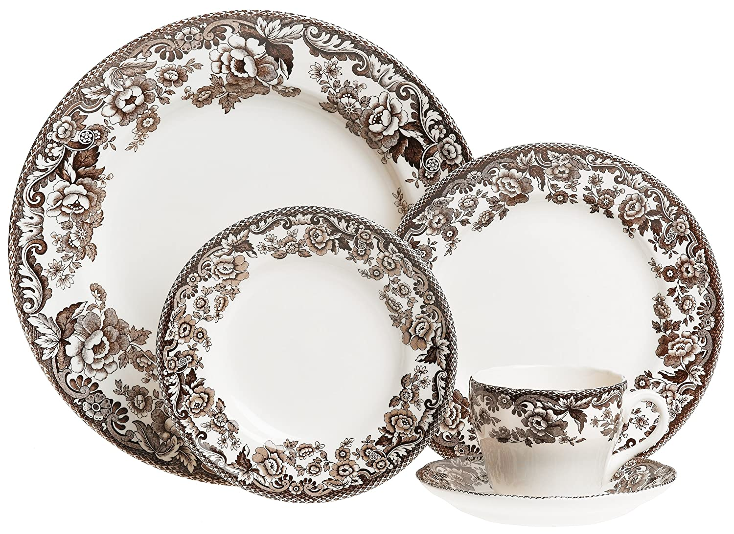 Amazon.com   Spode Delamere 5-Piece Place Setting Service for 1 Spode Delamere Brown Dinnerware Sets  sc 1 st  Amazon.com & Amazon.com   Spode Delamere 5-Piece Place Setting Service for 1 ...