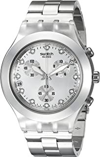 Swatch Mens SVCK4038G Full Blooded Silver Watch