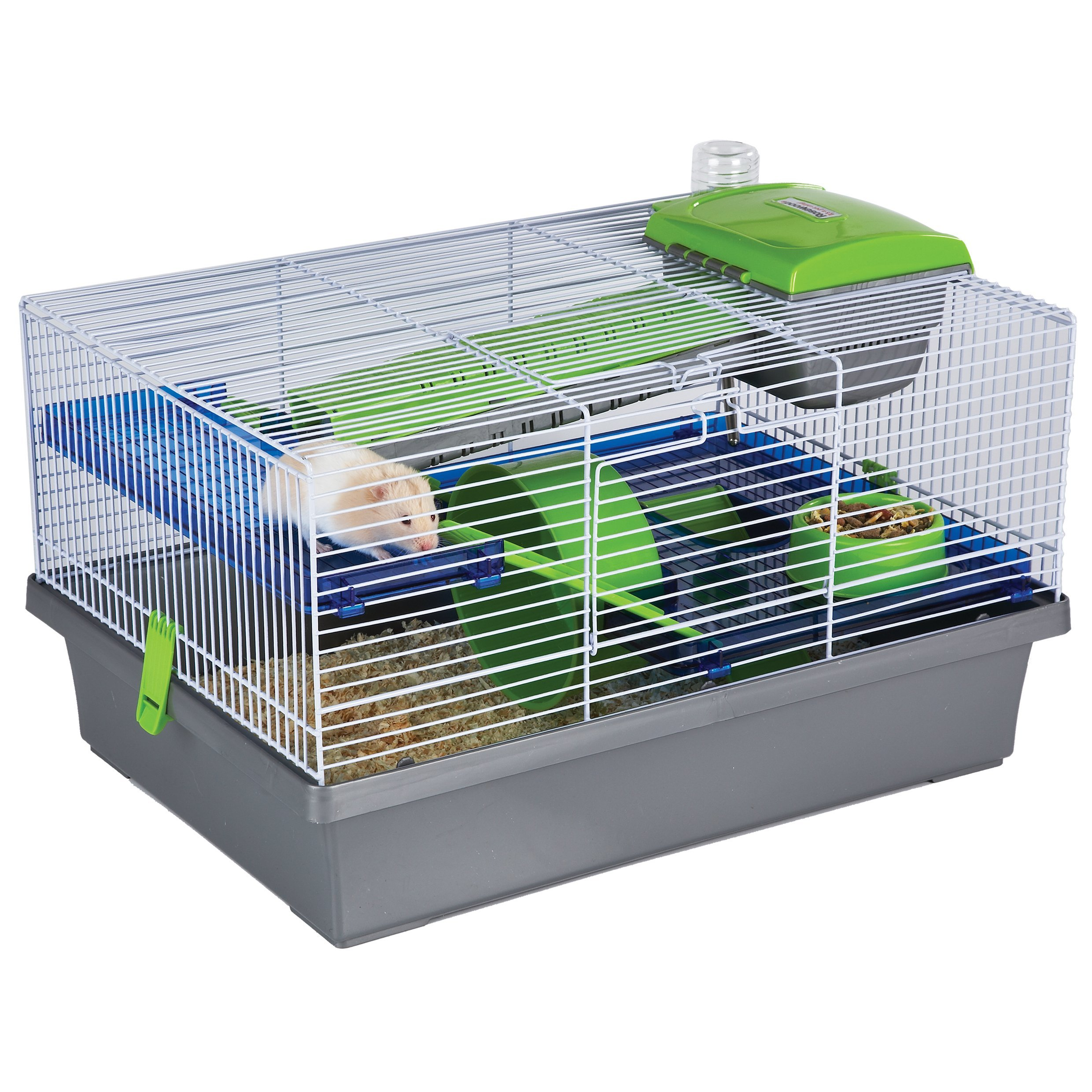 Pico Silver & Green - Hamster & Small Animal Home/Cage by Rosewood Pet