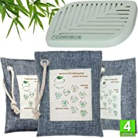 Bamboo Charcoal Air Purifying Bag - 3x220, 75 Gram - Refrigerator Deodorizer Fridge Freezer - Activated Charcoal Odor…