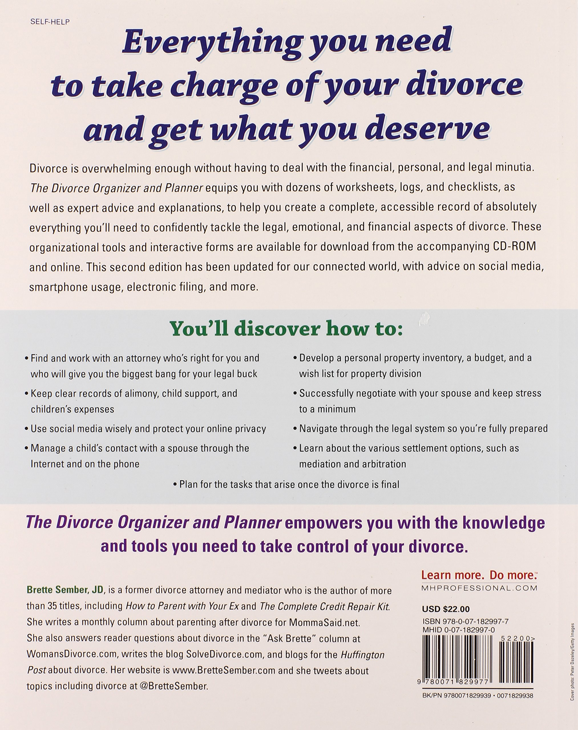 The Divorce Organizer and Planner with CDROM 2nd Edition NTC – Divorce Property Division Worksheet