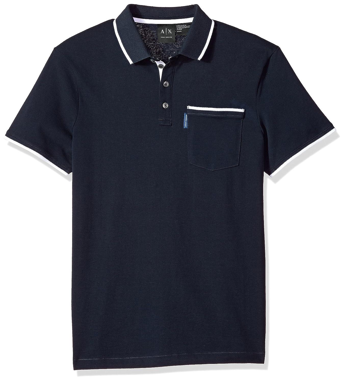 0748f25b17 Amazon.com: A|X Armani Exchange Men's Short Sleeve Polo Shirt: Clothing