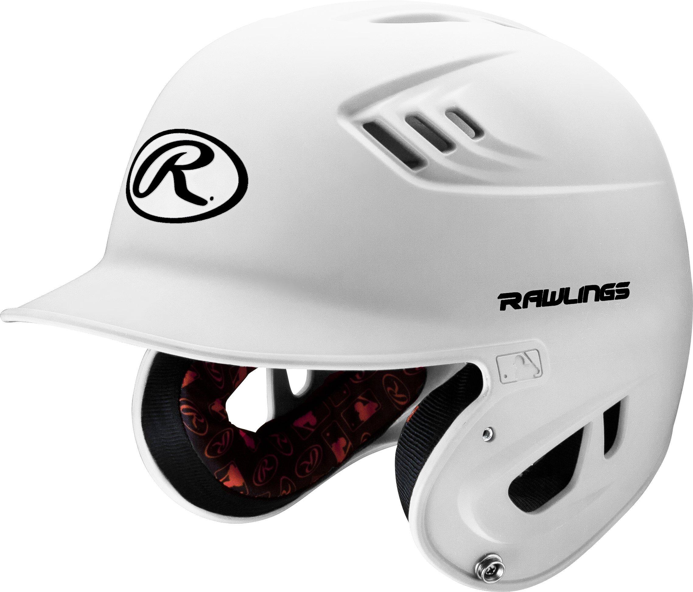 Rawlings R16 Series Matte Batting Helmet, White, Senior by Rawlings