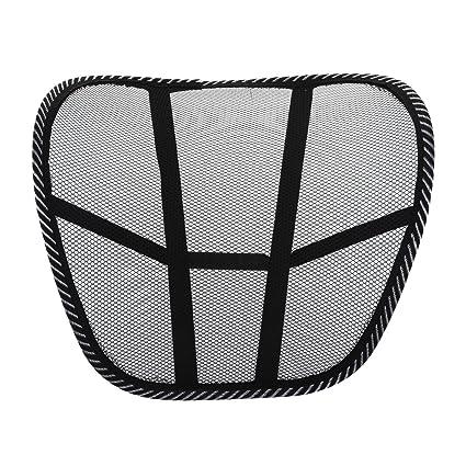 Almohada de lumbar - SODIAL(R)Almohada de lumbar de apoyo trasero de la cintura para sillas de cojin de asiento Almohada Corrector de Postura Negro: ...