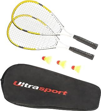 Lot de 2 Volant sous Housse compl/ète AMAZON Lot de 2 Raquette de Badminton