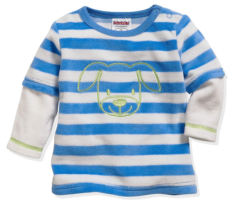 Schnizler Unisex Baby Langarmshirt Nicki Ringel Hund Sweatshirt