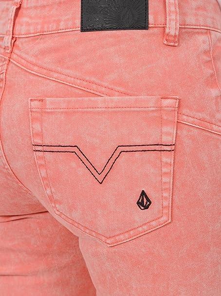 ad6107eb436 Volcom Jeans Femme Oily Skinny Colour Electric Coral  Amazon.fr  Vêtements  et accessoires