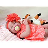 """Baby Doll Girl Smiling 15"""" inches Look Real Realistic Full Body Life Like Reborn Cute Soft Vinyl Children Gift"""