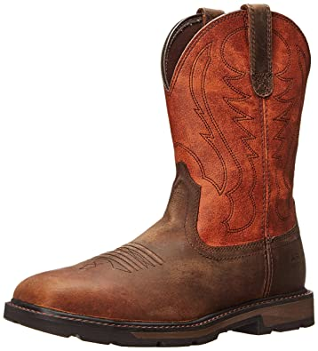 Ariat Men's Groundbreaker Wide Square Steel Toe Work Boot, Brown/Ember, ...