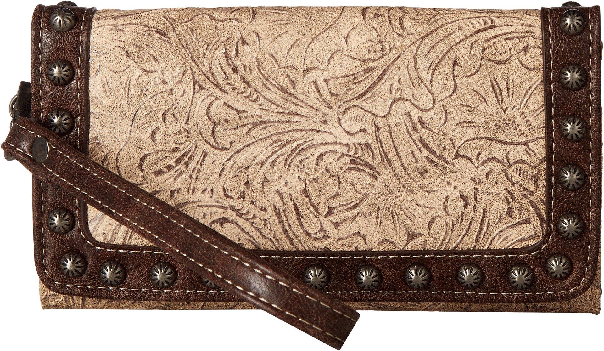Blazin Roxx Women's Lydia Style Clutch Wallet, Taupe, Chocolate, OS by Blazin Roxx