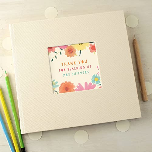 personalised floral thank you teacher message book amazon co uk