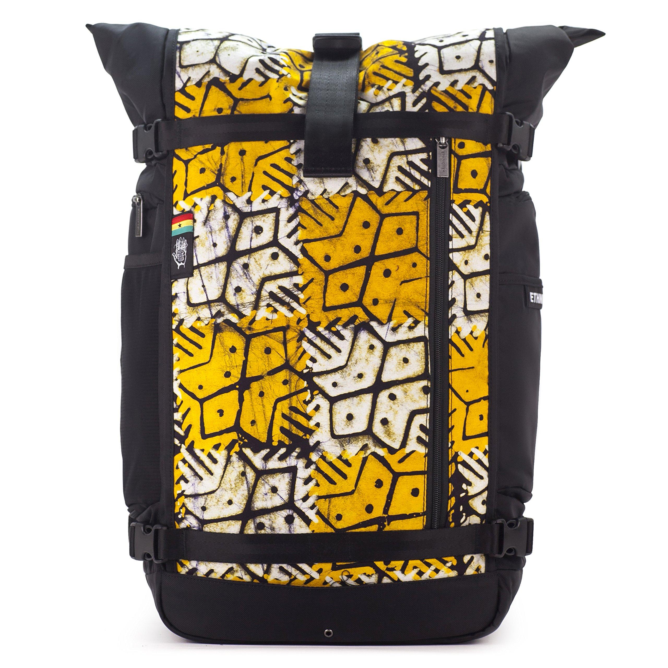 Ethnotek Raja Large Travel Backpack for Women   Hand Woven Fabric   Ghana 22