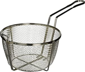 Winco FBRS-8 Round Wire Fry Basket, 8-1/2-Inch, 6-Mesh,Nickel,Medium