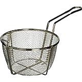 Winco FBRS-8 Round Wire Fry Basket, 8-1/2-Inch, 6-Mesh,Nickel,Medium