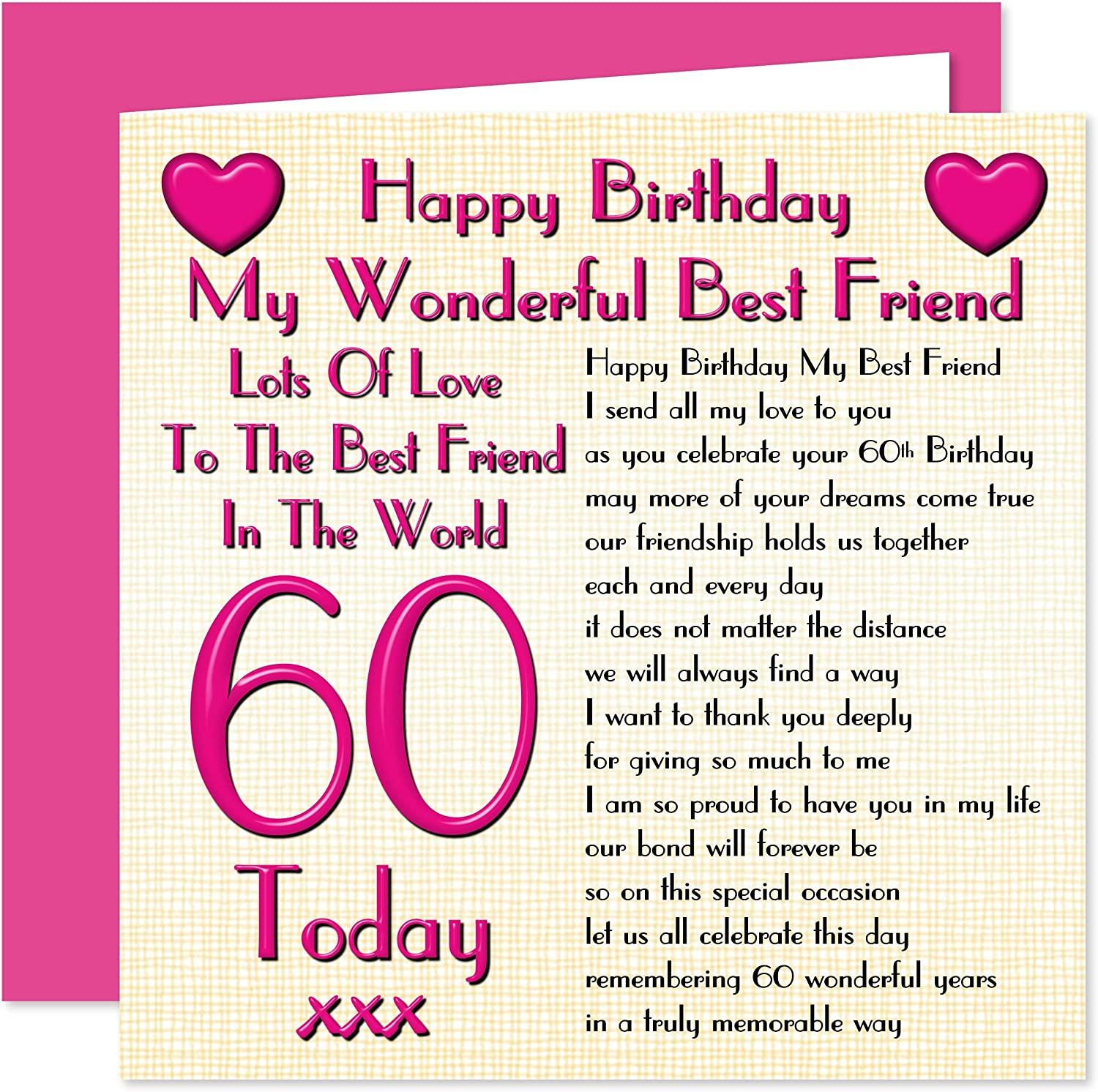 Fantastic Best Friend 60Th Happy Birthday Card Lots Of Love To The Best Funny Birthday Cards Online Aboleapandamsfinfo
