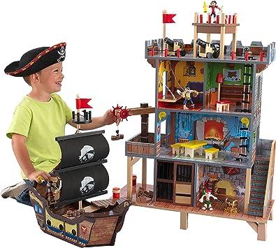 KidKraft- Juego de madera para niños con barco pirata y figuras de acción incluidas, Pirates Cove (63284) , color/modelo surtido: Amazon.es: Juguetes y juegos