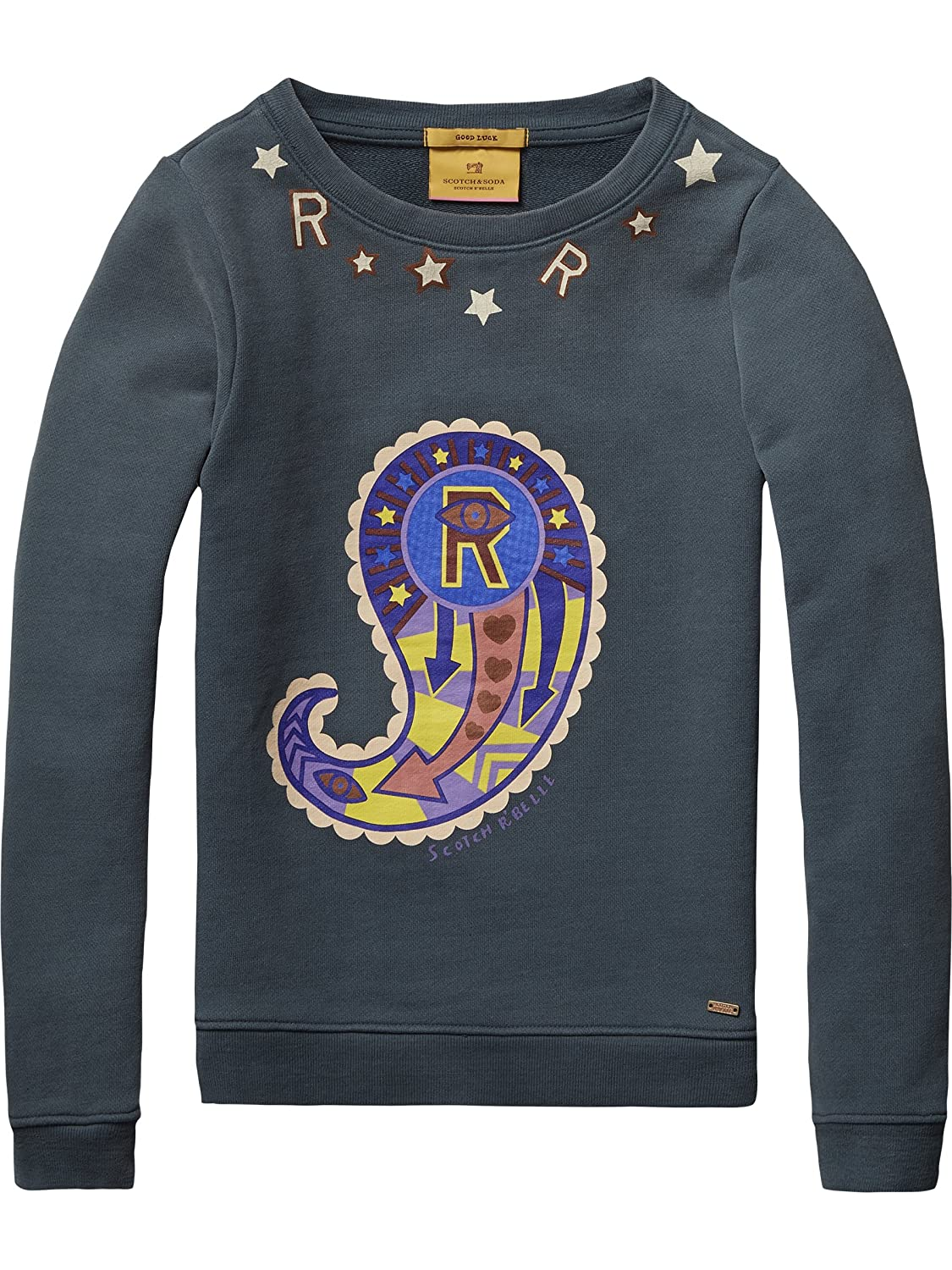 Scotch R'Belle Mädchen Sweatshirt Crew Neck Sweat with Artworks