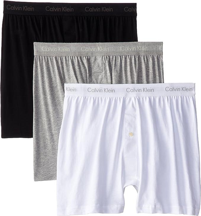 Calvin Klein 卡尔文克莱因 CK 纯棉 男式平角内裤*3条装 5.8折$22.99 海淘转运到手约¥176