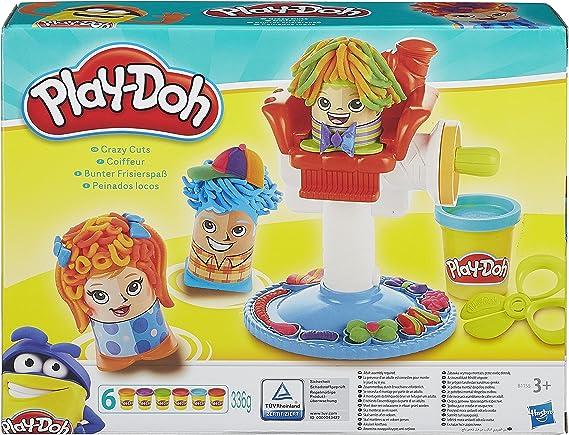 Play Doh - Kit de peluquería Peinados Locos (Hasbro B1155EU4): Amazon.es: Juguetes y juegos