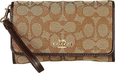 d5e19402c298 ... coupon code for coach womens signature phone clutch li khaki brown one  size handbags amazon e9519