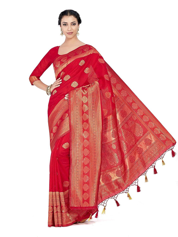 Art Silk Kanjivaram Style With Blouse Light Weight Saree