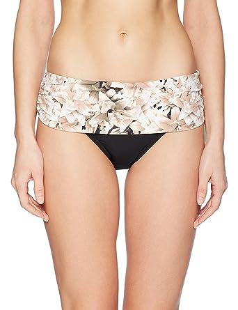 ce2b02bbde Amazon.com: Calvin Klein Women's Solid Fold Over Waistband Full Bikini  Bottom Swimsuit: Clothing