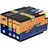 Start - 4 XL Ersatz Chip Druckerpatronen kompatibel zu HP 950XL / HP 951XL Schwarz, Cyan, Magenta, Gelb für Hewlett Packard OfficeJet Pro 8100 8600 8600 Plus 8610 8615 8620 8625 8630 8640 8660 251dw 276dw