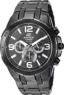 Casio Mens Edifice Quartz Stainless-Steel-Plated Casual Watch, Color: