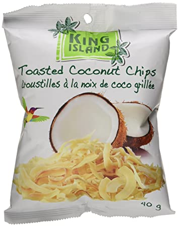 King Island Roasted Coconut Chips 40 g, Healthy snack (Original)