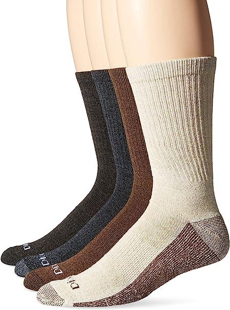 Dickies Mens 4 Pack Medium Weight Marled Accent Moisture Control Crew Socks