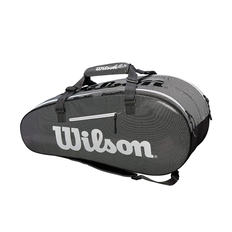 Wilson(ウイルソン) テニス バドミントン ラケットバッグ SUPER TOUR 2 COMP LARGE(スーパーツアー2コンプラージ) ラケット9本収納可能 WRZ843909 ブラック/グレー B07JBK8LZX