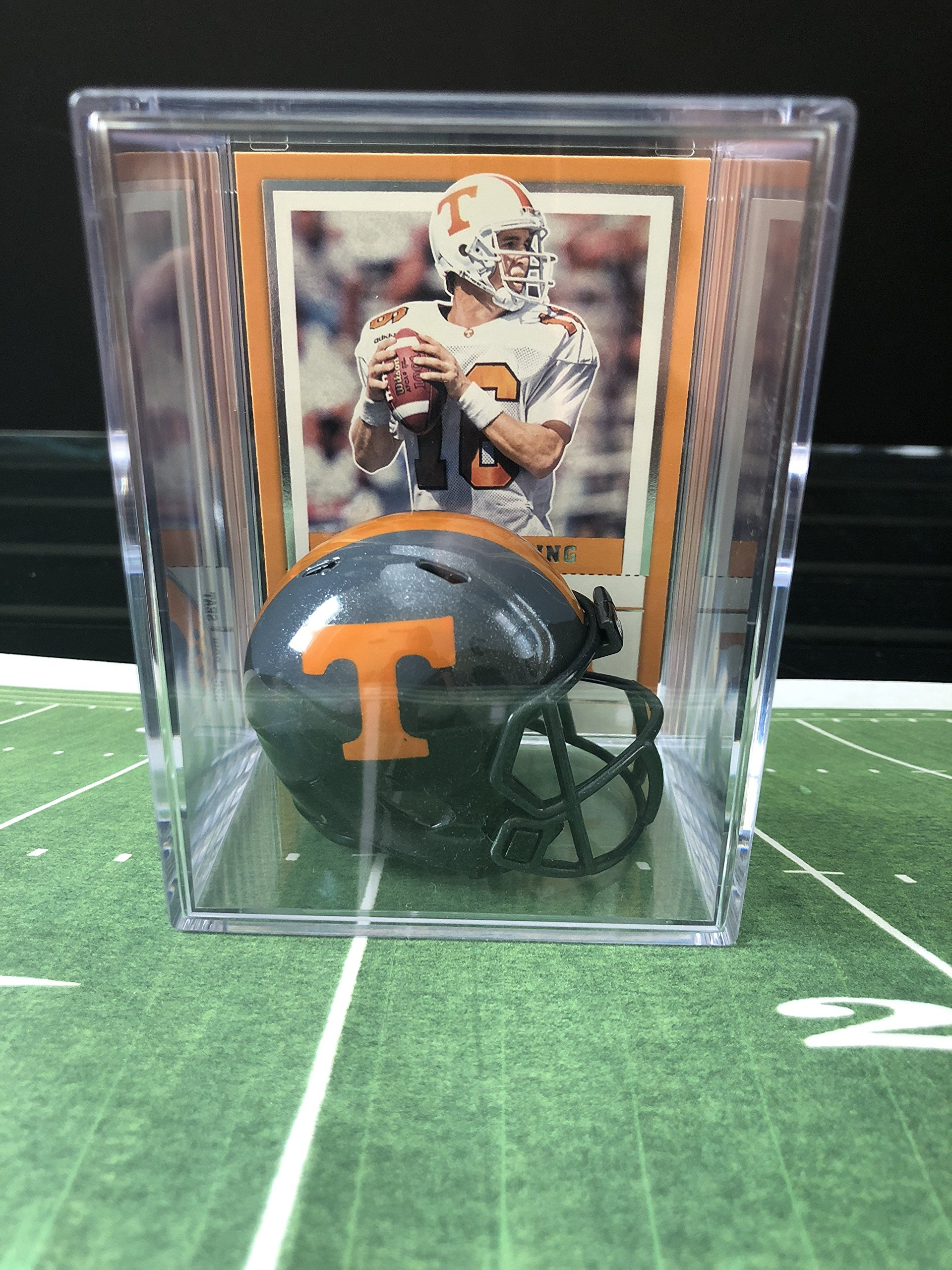 Tennessee Volunteers NCAA Helmet Shadowbox w/Peyton Manning card