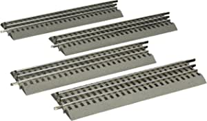 """Lionel FasTrack Electric O Gauge, 10"""" Straight Track, 4-Pack"""