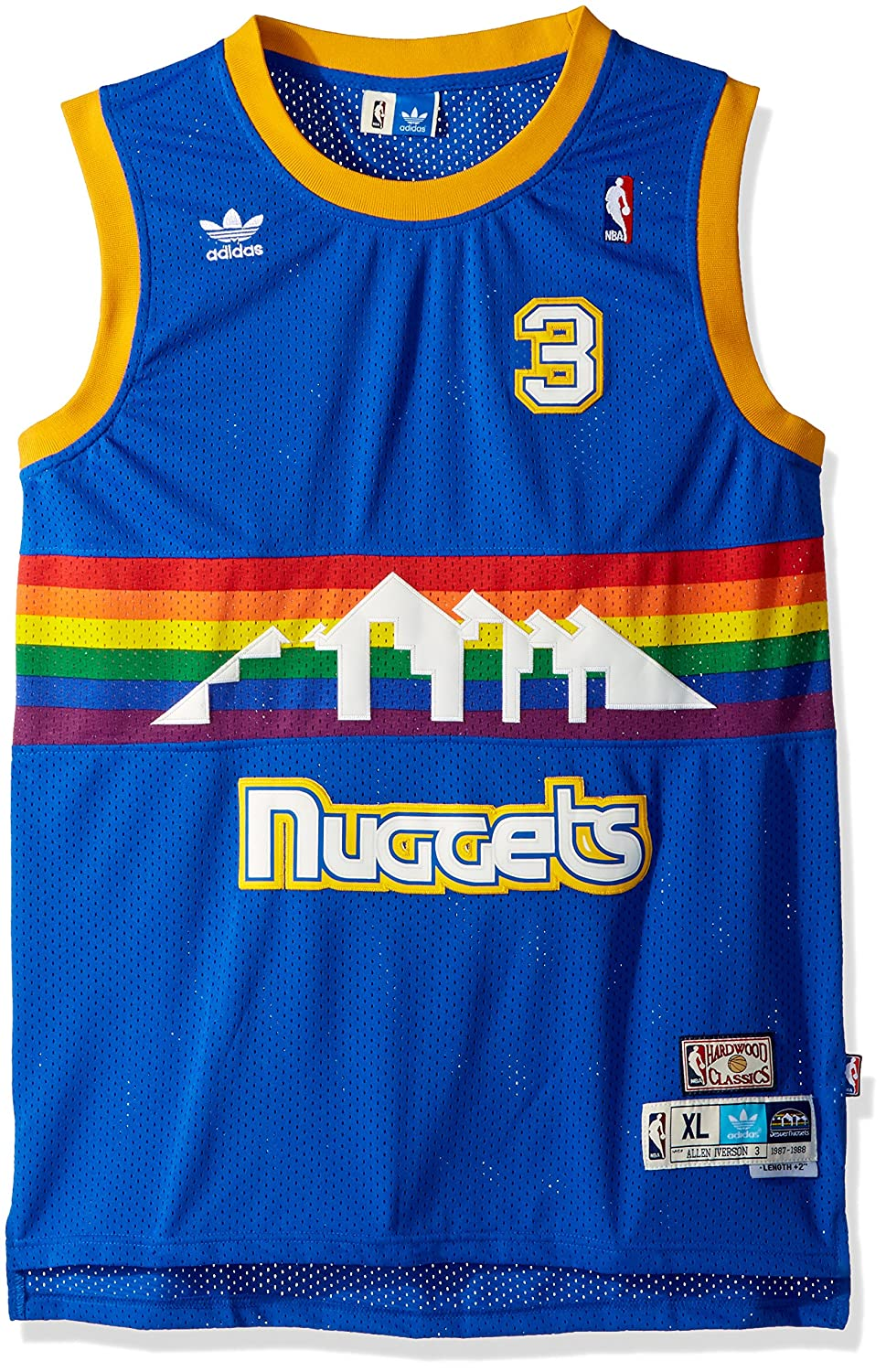 Adidas dikembe Mutombo Denver Nuggets NBA Throwback Swingman Jersey Camiseta - Blue, Small: Amazon.es: Deportes y aire libre