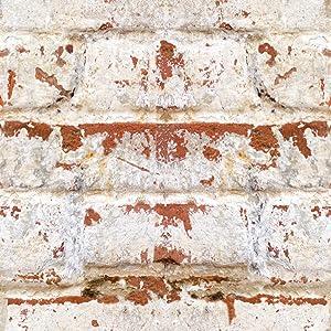 Home Decor Line CR-54725 Old Bricks Peel and Stick Foam Tiles